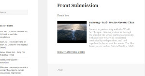 Allow users to post their own videos from your site frontend.