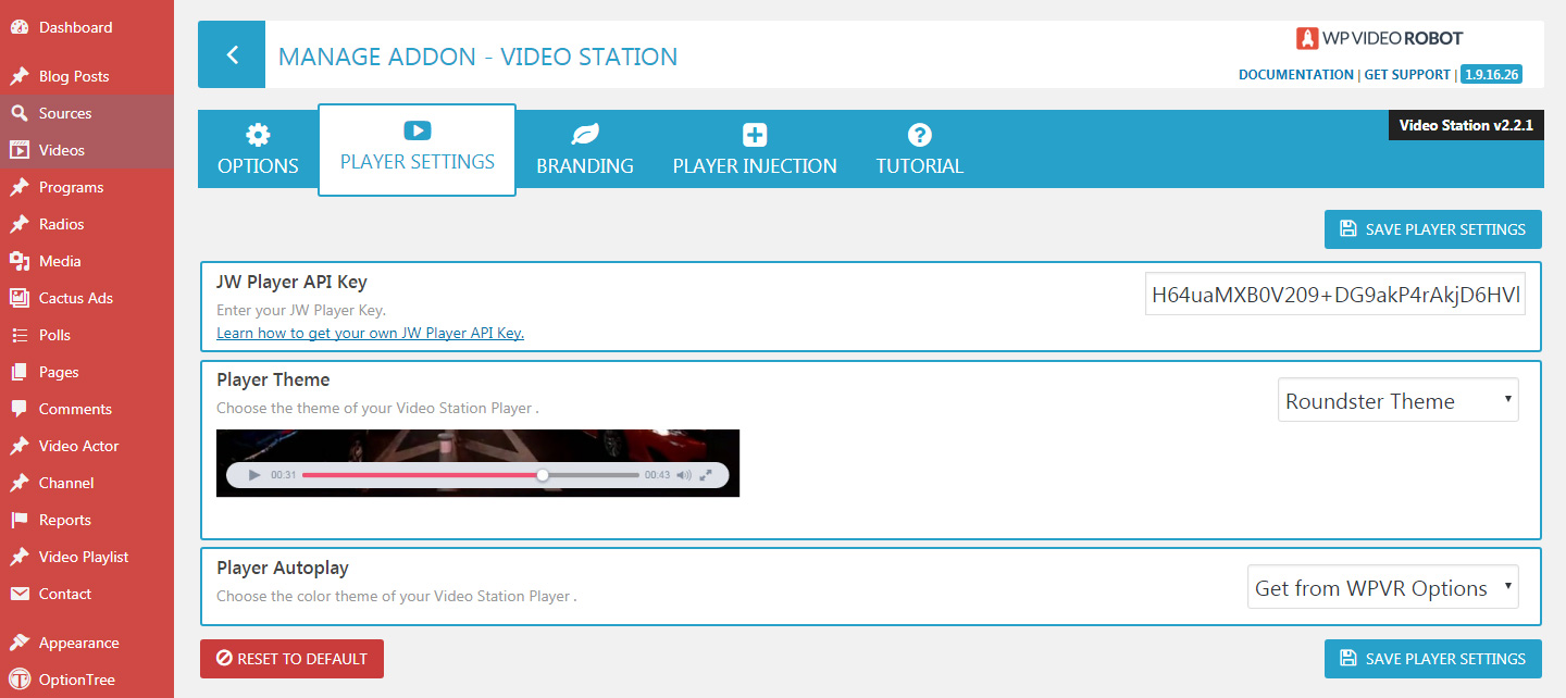 Video Station - WP Video Robot Addons Store